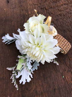 Wrist Corsage with Family Heirlooms