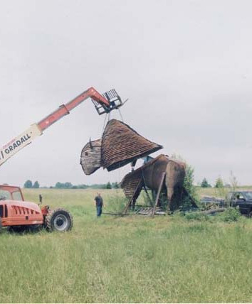 Giant Bison Sculpture