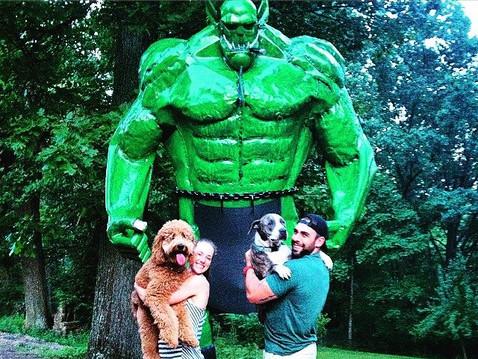 Giant Orc Sculpture