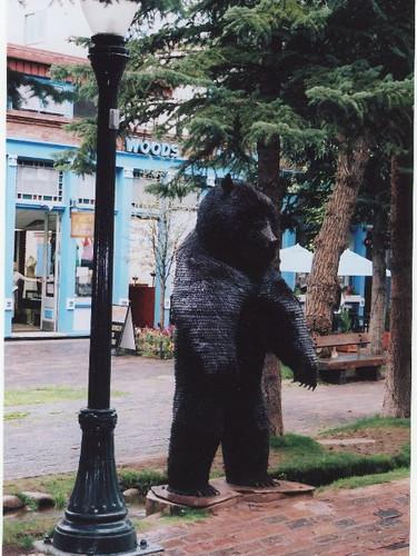 Bear Sculpture in Aspen