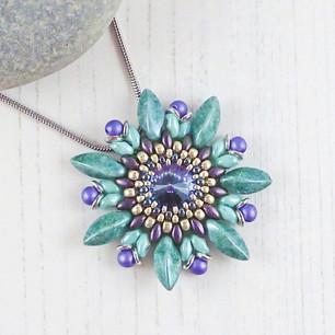 Purple Passionflower Necklace