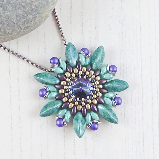 Purple Passionflower Necklace