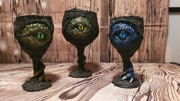Large Gin Glass Dragon