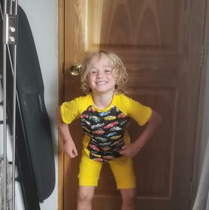 ShortS & Tshirts Yellow Cars Modelled