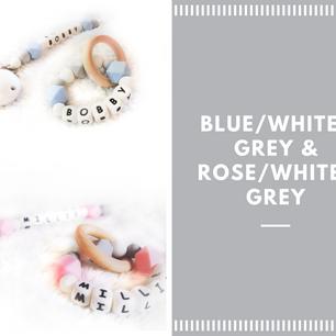 Blue White Grey & Rose White Grey
