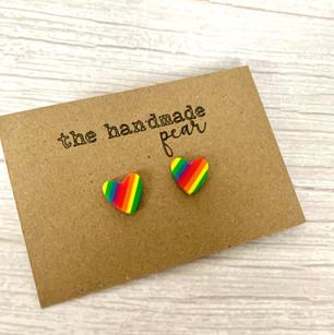 Look for the Rainbow heart studs