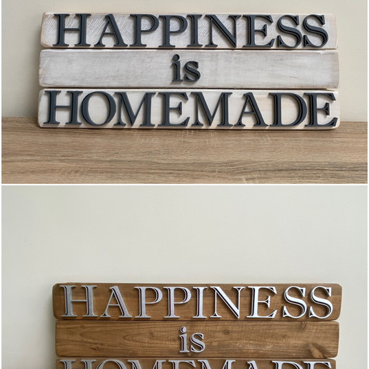 Happiness is homemade