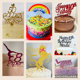 Personalised cake toppers...