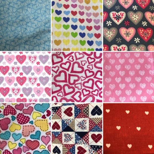 heart fabrics