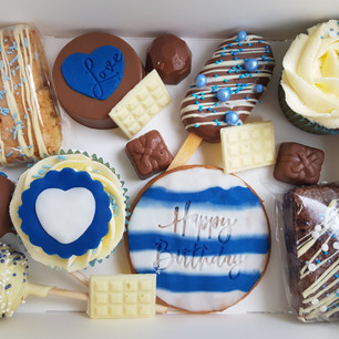Blue & White Graze Box