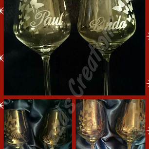 Beautiful etched glasses...