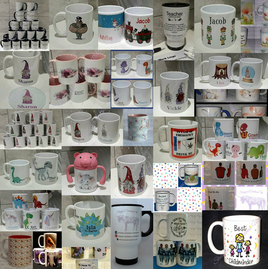 All types of mugs