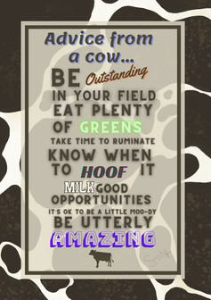 Advice from a cow...