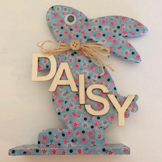 Varnished patterned bunnies