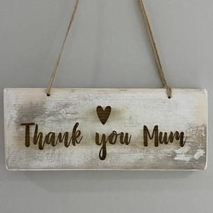 Thank you mum plaque