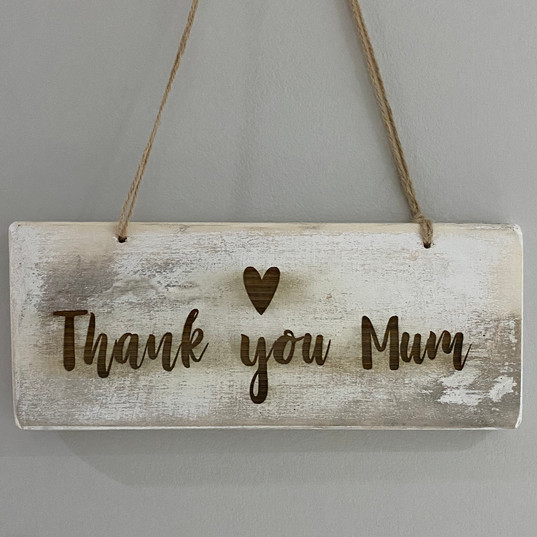 Thank you mum plaque