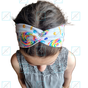 Faux Turban Headband Modelled 1