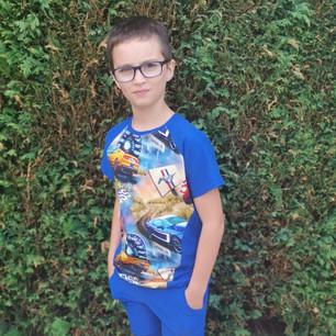 Short & T-shirts Blue Cars Age 8yrs