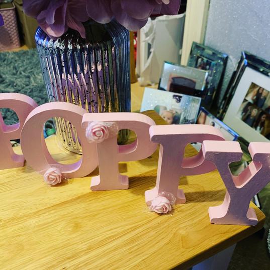 Bespoke wooden letters