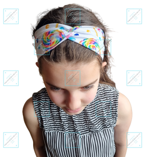 Faux Turban Headband modelled
