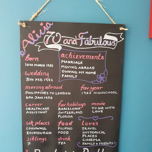 70 and fab chalkboard