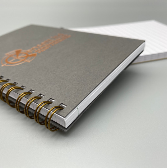 A6 lined bespoke notebooks