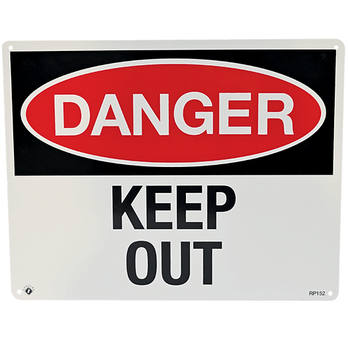 "Danger Keep Out 10"" x 8"" - Rigid Plastic"