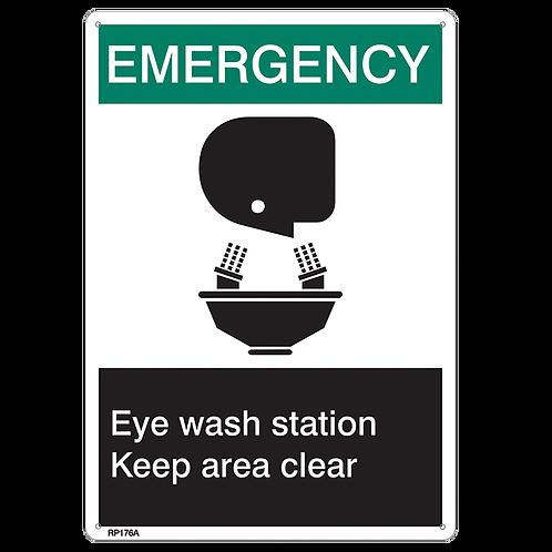 """Emergency…Eye Wash Keep Area Clear"""