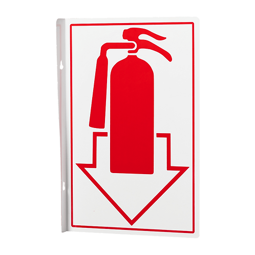 Fire Extinguisher Pictoral 90° - Rigid Plastic Signs