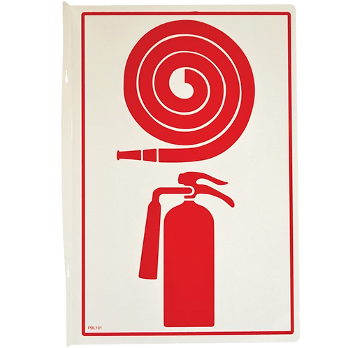 FIRE HOSE / EXTINGUISHER DOUBLE SIDED