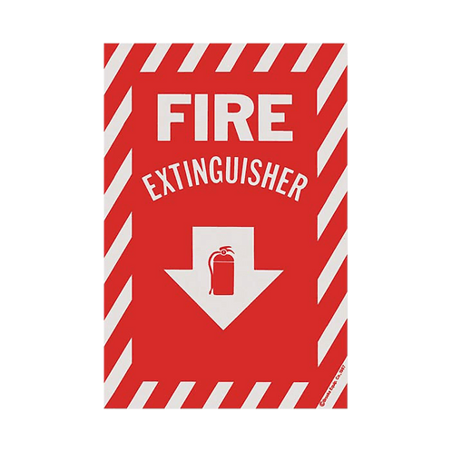 """Fire Extinguisher"" Arrow - Vinyl Sticker"