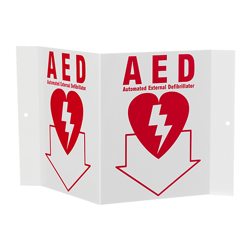 """AED"" Stand-Out Arrow, 5"" x 6"""