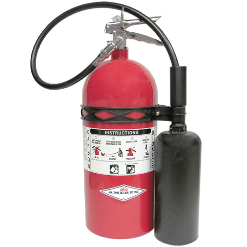 10 lb. Amerex CO2 Fire Extinguisher w/ wall hanger