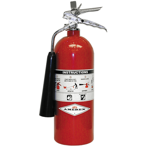 5 lb. Amerex CO2 Fire Extinguisher w/ wall hanger