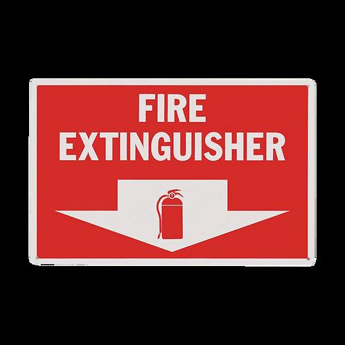 "Fire Extinguisher Arrow 8"" x 12""- Rigid Plastic Signs"