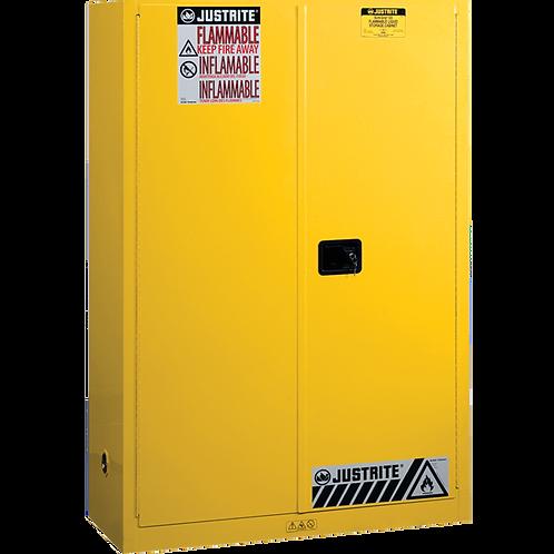 45-Gal Safety Cabinet 2 Man Doors Yellow