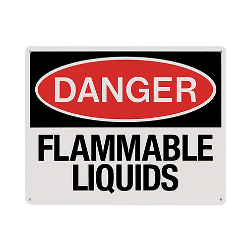 "Flammable Liquids Danger 10"" x 8"" - Rigid Plastic"