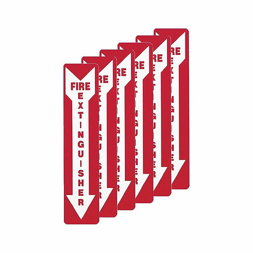 VINYL FIRE EXTINGUISHER SIGNS (6 PACK)