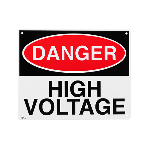 "DANGER High Voltage Sign 10"" x 8"" - Rigid Plastic"