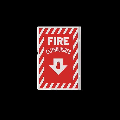 Fire Extinguisher Arrow 90° - Rigid Plastic Signs
