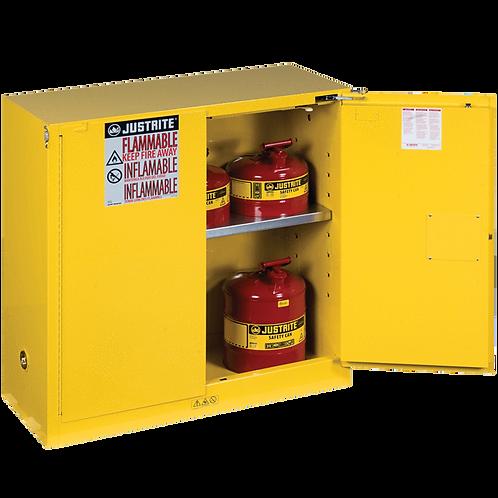 30-Gal Storage Cab 2 Self Close Doors Yellow