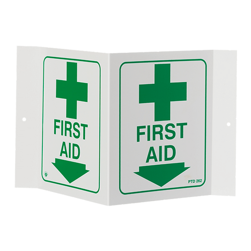 """First Aid"" Arrow, 5"" x 6"""