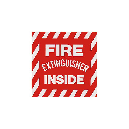"""Fire Extinguisher Inside"" - Vinyl Sticker"