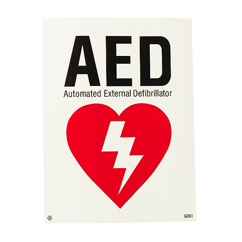 """AED Automated External Defibrillator, 6"""" x 8"""""""