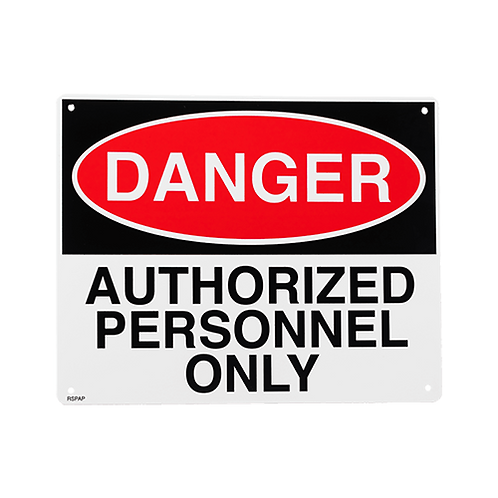 Authorize Personnel Only 10 X 8