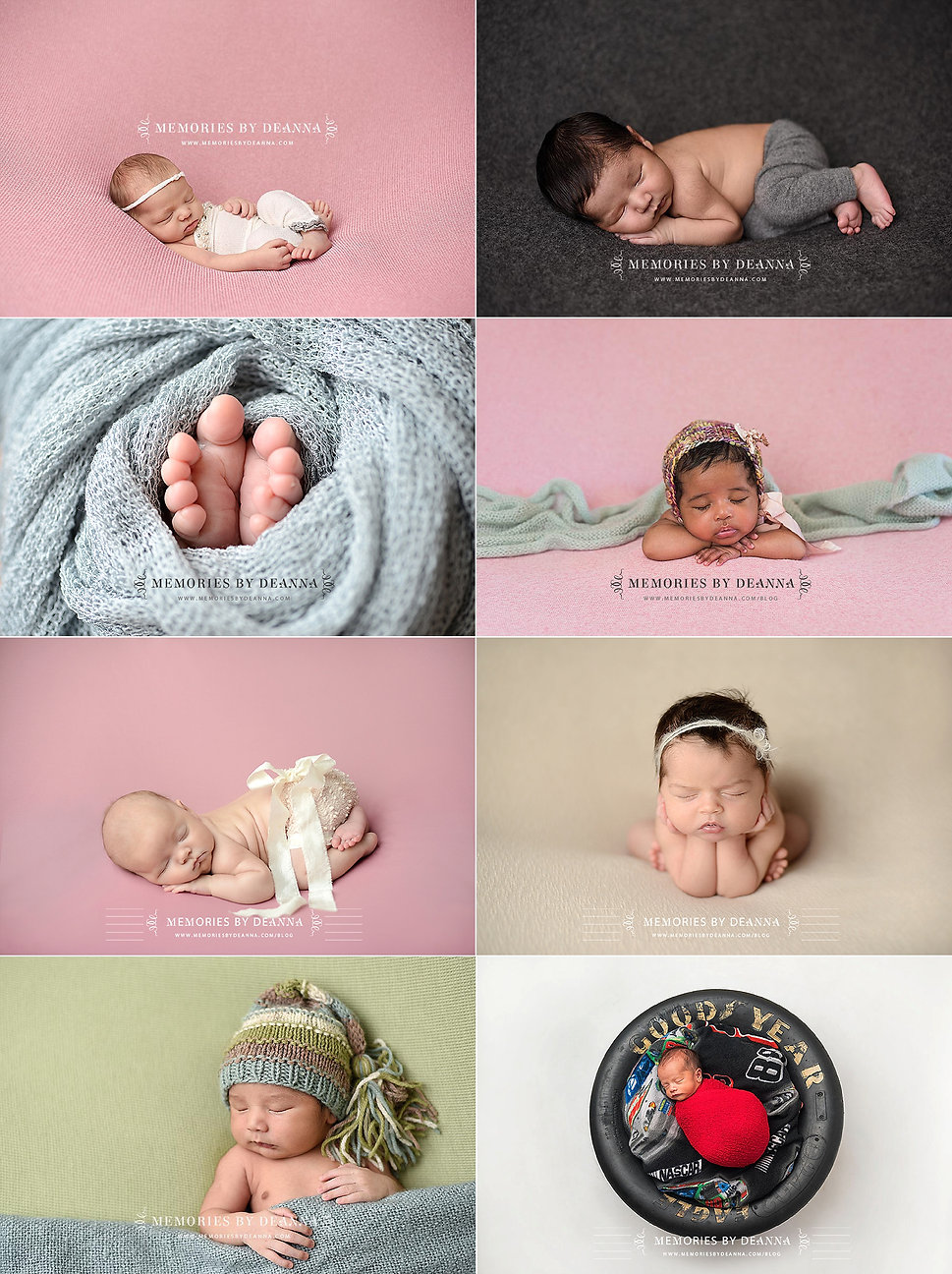 Sample newborn poses
