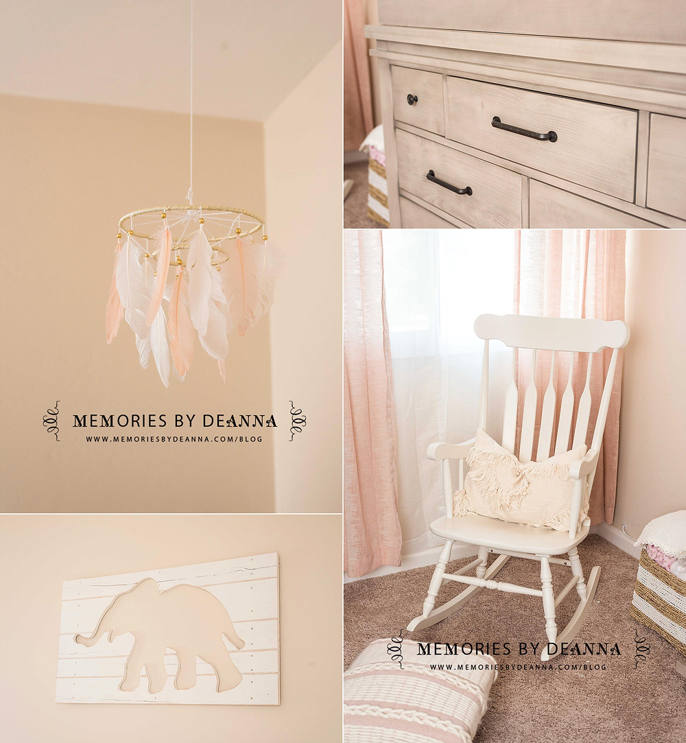 Delicate neutral colors and tasteful decorations adorn this boho nursery