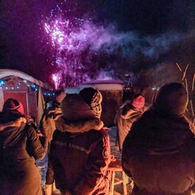 Fireworks Bonfire Yellowknife