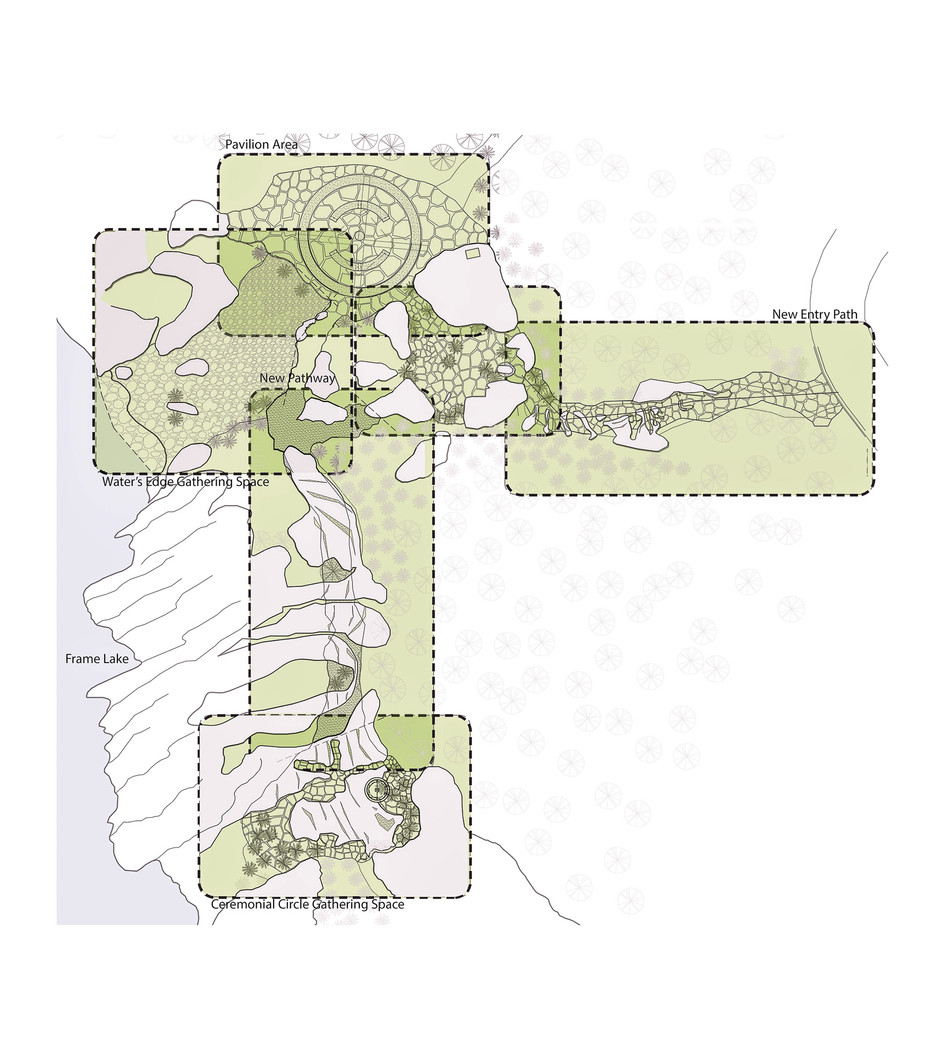 Site plan of Water's Edge Park in Yellowknife NWT