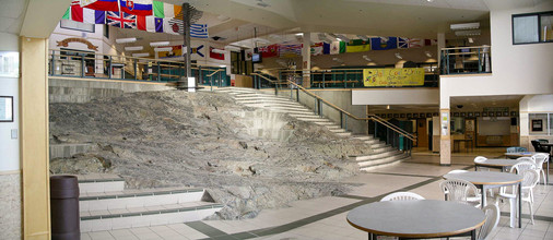 Bedrock in Ecole St Patrick High School, Yellowknife NWT